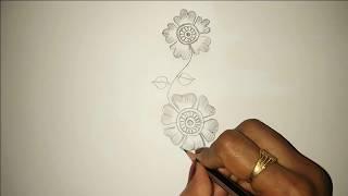 Beautiful Mehndi Design Very Simple Drawing