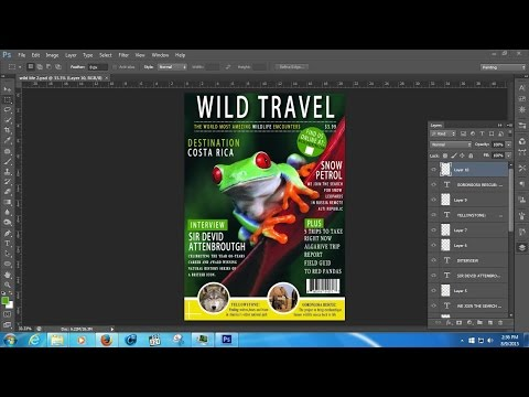 photoshop tutorial magazine cover design
