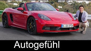 Porsche 718 Boxster GTS vs Cayman GTS FULL REVIEW comparison 2018 - Autogefühl
