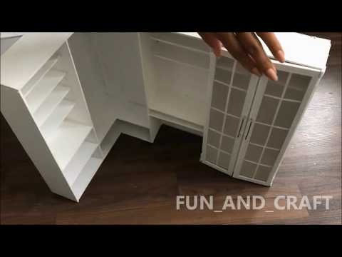 DIY: walk-in wardrobe & vanity mirror for dolls
