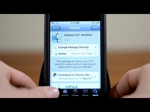 Untethered iOS 5.0.1 Jailbreak Corona iPhone 3GS & 4, iPod touch 3G & 4G and iPad
