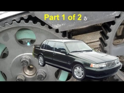 Volvo 960, S90, V90 Timing Belt Replacement. Part 1 of 2 - Auto Repair Series