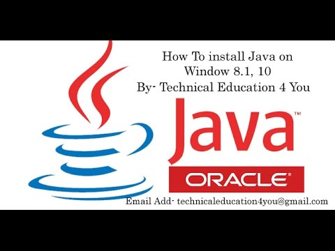 How To Install Java On Window 10, 8.1, 7 64 bit Operating System [Hindi/Urdu].