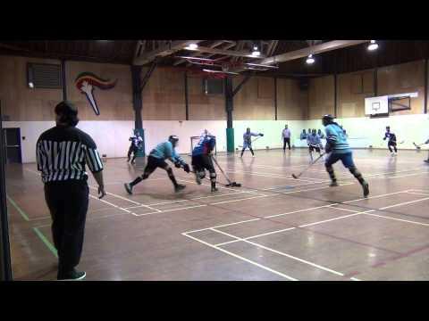 Warhawks vs. West Coast Bullies - Period 1 (12/10/11) Ball Hockey Videos