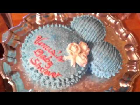 Venus's Baby Shower (Nov 17,2012) I made pregnant belly cake