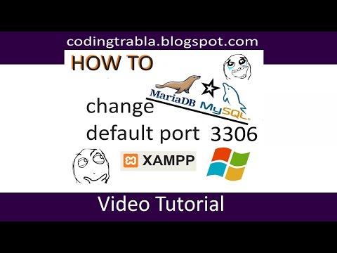 XAMPP - How to change MySQL / MariaDB default port 3306 on Windows