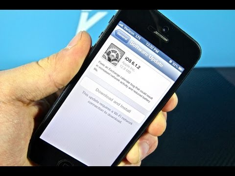 OFFICIAL iOS 6.1.2 Firmware Released - Untethered Jailbreak Warning iPhone 5/4S/4/3Gs iPad 4/3/2