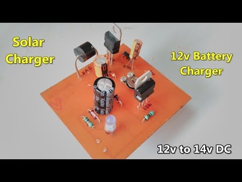 12v battery solar charger circuit making