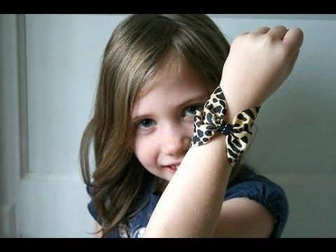 ribbon BOW bracelet tutorial (How to make a bow cuff bracelet)