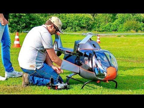 AMAZING BIG RC VARIO EC-120 SCALE MODEL TURBINE HELICOPTER FLIGHT DEMONSTRATION