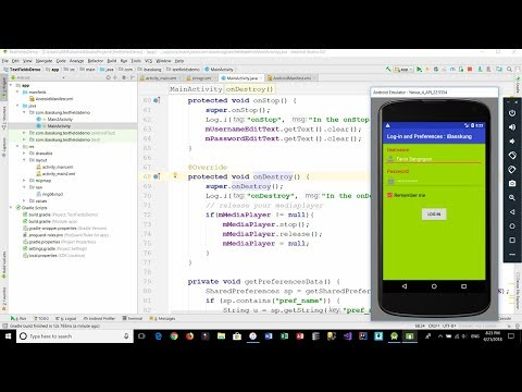 Android Login Activity and Play Sound (MediaPlayer) - iBasskung Tutorial