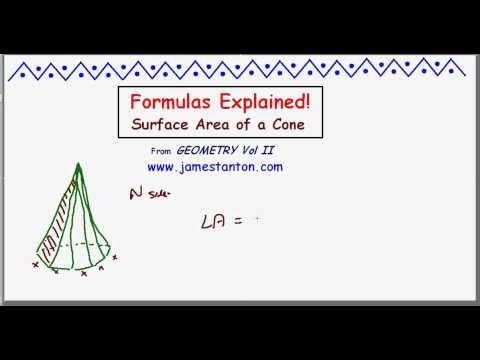 Formula for the Lateral Area of a Cone: Video I (Tanton: Mathematics)