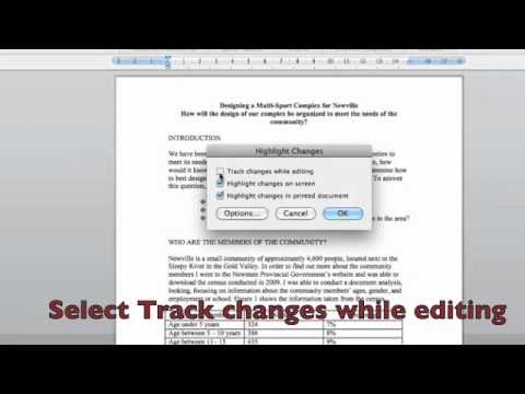 Track Changes in Microsoft Word - tutorial