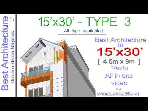15x30 House Plan 3d Elevation Design Layout With 2bhk Car
