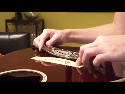 How to Easily Repair a Lifting Bridge on an Acoustic Electric Guitar