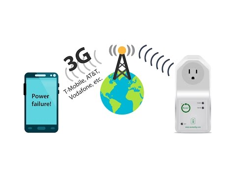 iSocket 3G - The World's First 3G Power Outage Alarm Smart Plug via T-Mobile, AT&T, any 3G network