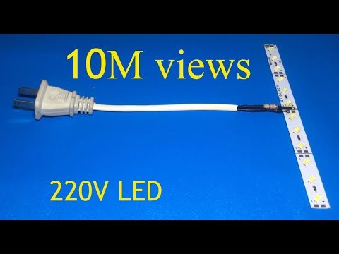 Simple way to connect 12V LEDs to AC 220V