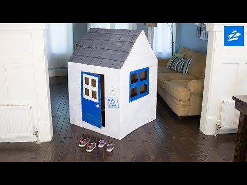 Create the Perfect Playhouse Out of a Cardboard Box
