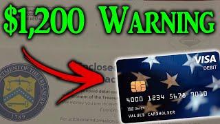 $1,200 Stimulus Debit Card WARNING