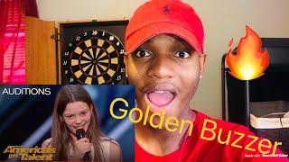 Courtney Hadwin: 13-Year-Old Golden Buzzer Winning Performance - America's Got Talent 2018 REACTION
