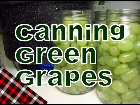 How to Can Green Grapes
