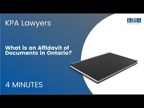 What is an Affidavit of Documents?