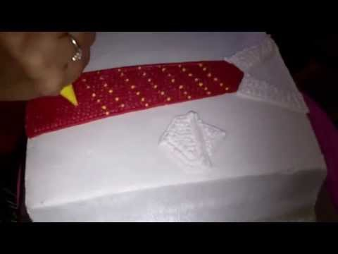 How to Easy Make Shirt & Tie Cake