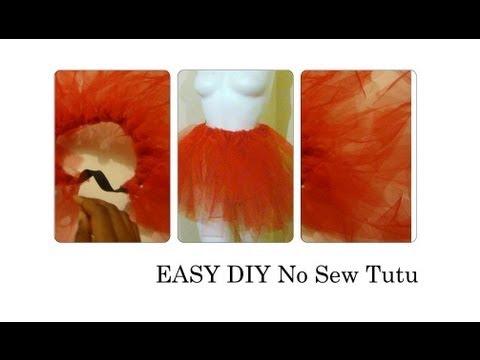 How To Make A No Sew Tutu / DIY Tutu EASY
