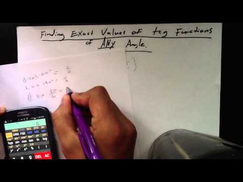 How to find the EXACT value of trigonometric functions usin