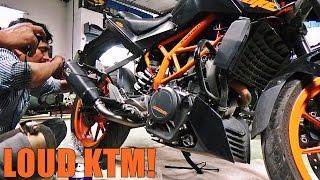 KTM DUKE 390 Exhaust Installation - Greasehouse GRUNT V2