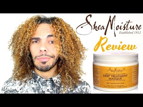 Shea Moisture Organic Raw Shea Butter Deep Treatment Masque Conditioner Product Review Dry, Damaged