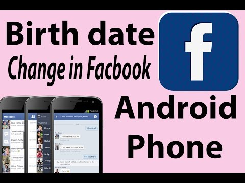 Birth date change in Facebook [Android]