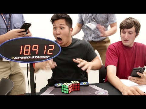 DOUBLE One-Handed Rubik's Cube WORLD RECORD (18.912)