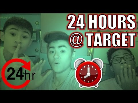 24 HOUR OVERNIGHT CHALLENGE IN TARGET!! (CAUGHT?!)