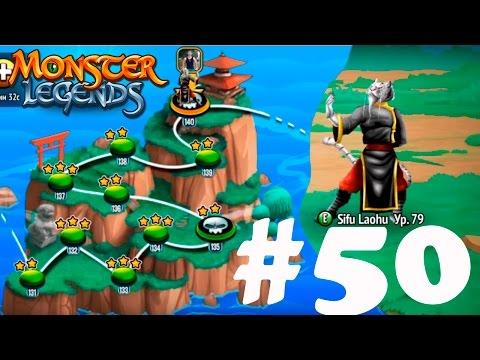 Monster Legends 50 - остановка 140 босс острова Sifu Laohu
