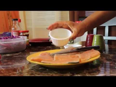 Cheesecake Factory's Fire Cracker Salmon Rolls