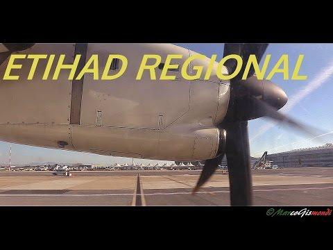 Etihad Regional ATR 72-500 Pisa Galilei - Rome Fiumcino / landing and takeoff