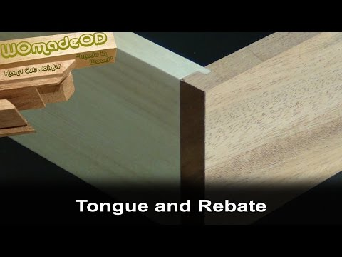 Tongue and Rabbet Joint by Hand
