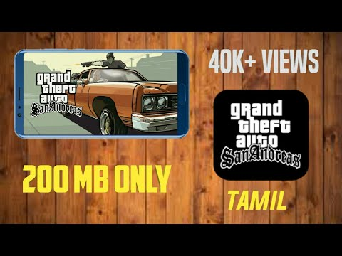(200 mb) How to download gta sananrace for Android (Tamil)