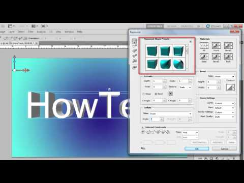How to Create 3D Text in Photoshop CS5