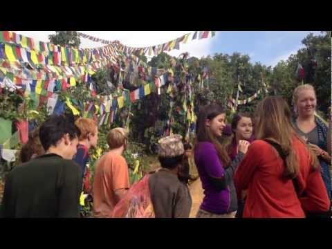 Hanging Tibetan Prayer Flags