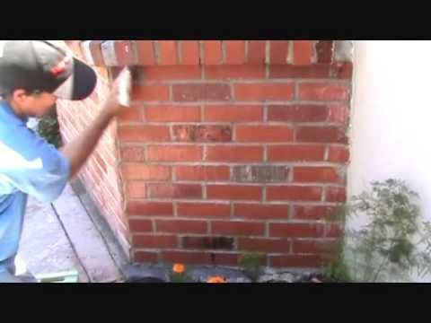 Sealing a brick wall 2nd coat...Part 1