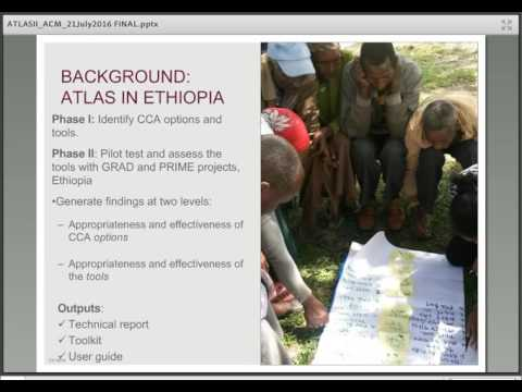 Analyzing & Evaluating CCA Options: Findings & Methodology from a USAID Pilot Study in Ethiopia