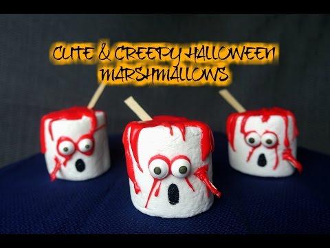 CUTE & CREEPY HALLOWEEN MARSHMALLOWS - CookingwithKarma