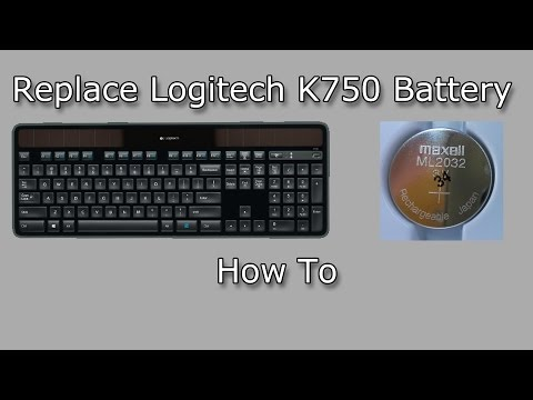 Replacing Battery in the Logitech Wireless Solar Keyboard K750 (How To)