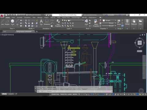Using Inquiry Commands in AutoCAD