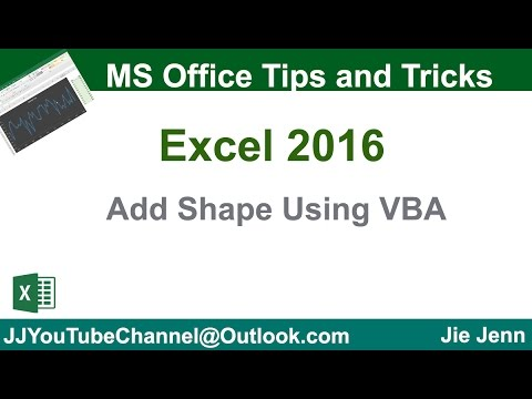 How to Add Shape Using VBA   Excel VBA Tutorial