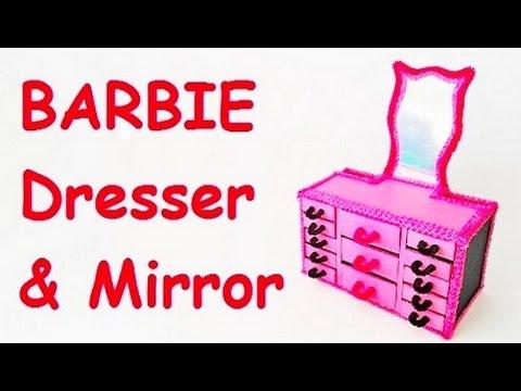 How to make BARBIE dresser & mirror