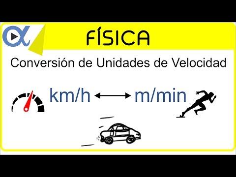 CONVERSIÓN DE UNIDADES DE VELOCIDAD: km/h a m/min y m/min a km/h