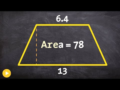 How to determine the height of a trapezoid when given the area and bases